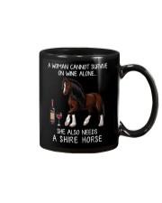 Wine and Shire Horse Mug thumbnail