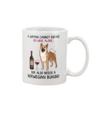 Wine and Norwegian Buhund 2 Mug thumbnail