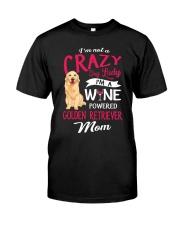 Crazy Lady Golden Retriever Classic T-Shirt front