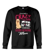 Crazy Lady Golden Retriever Crewneck Sweatshirt thumbnail