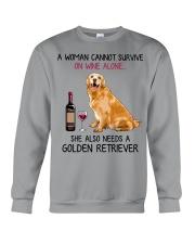 Wine and Golden Retriever 4 Crewneck Sweatshirt thumbnail