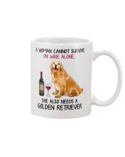 Wine and Golden Retriever 4 Mug thumbnail