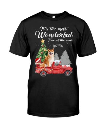 Wonderful Christmas with Truck - Shiba Inu