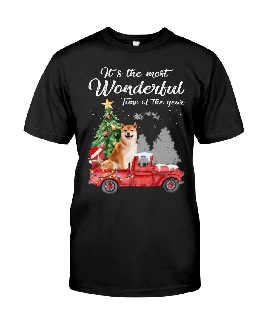 Wonderful Christmas with Truck - Shiba Inu Classic T-Shirt