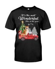 Wonderful Christmas with Truck - Shiba Inu Classic T-Shirt front