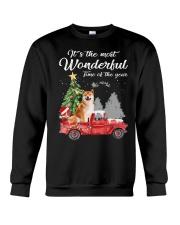 Wonderful Christmas with Truck - Shiba Inu Crewneck Sweatshirt thumbnail
