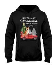 Wonderful Christmas with Truck - Shiba Inu Hooded Sweatshirt thumbnail