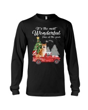 Wonderful Christmas with Truck - Shiba Inu Long Sleeve Tee thumbnail