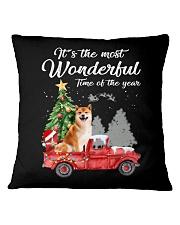 Wonderful Christmas with Truck - Shiba Inu Square Pillowcase thumbnail