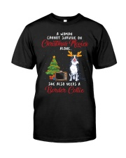 Christmas Movies and Border Collie  Classic T-Shirt front