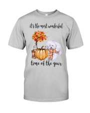 The Most Wonderful Time - Bichon Frise Classic T-Shirt front