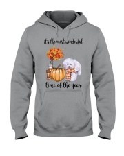 The Most Wonderful Time - Bichon Frise Hooded Sweatshirt thumbnail