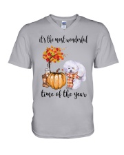 The Most Wonderful Time - Bichon Frise V-Neck T-Shirt thumbnail
