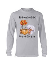 The Most Wonderful Time - Bichon Frise Long Sleeve Tee thumbnail