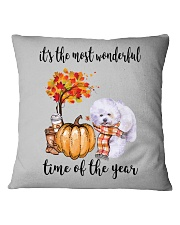 The Most Wonderful Time - Bichon Frise Square Pillowcase thumbnail