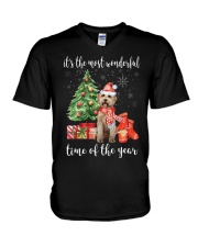 The Most Wonderful Xmas - Labradoodle V-Neck T-Shirt thumbnail
