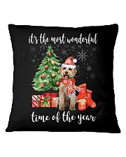 The Most Wonderful Xmas - Labradoodle Square Pillowcase thumbnail