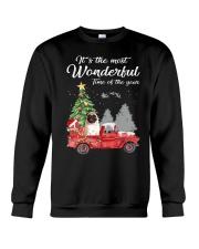 Wonderful Christmas with Truck - Pug Crewneck Sweatshirt thumbnail