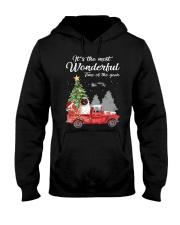 Wonderful Christmas with Truck - Pug Hooded Sweatshirt thumbnail