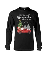 Wonderful Christmas with Truck - Pug Long Sleeve Tee thumbnail