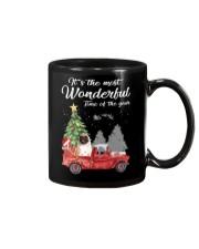 Wonderful Christmas with Truck - Pug Mug thumbnail