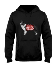 Flower and Border Collie  Hooded Sweatshirt thumbnail