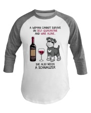 Cannot Survive Alone - Schnauzer Baseball Tee tile