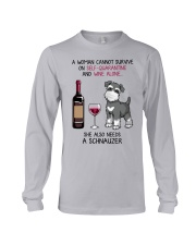Cannot Survive Alone - Schnauzer Long Sleeve Tee thumbnail