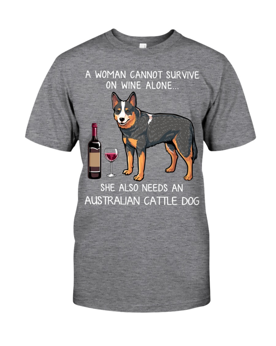 Wine and Australian Cattle Dog Classic T-Shirt