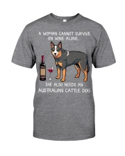 Wine and Australian Cattle Dog Classic T-Shirt front