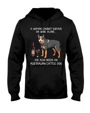 Wine and Australian Cattle Dog Hooded Sweatshirt thumbnail