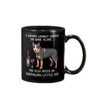 Wine and Australian Cattle Dog Mug thumbnail