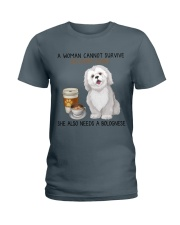 Coffee and Bolognese Dog 2 Ladies T-Shirt thumbnail