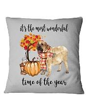 The Most Wonderful Time - Spanish Mastiff Square Pillowcase thumbnail