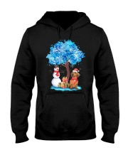 Snow Tree and Dachshund Hooded Sweatshirt tile