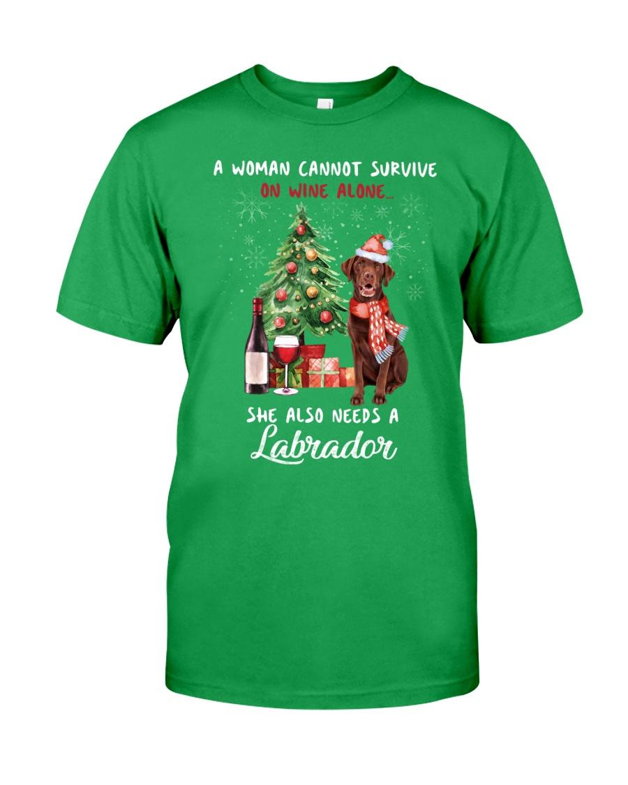 Christmas Wine and Chocolate Labrador Classic T-Shirt