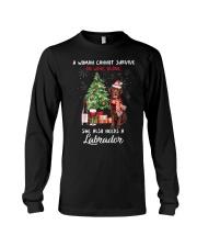 Christmas Wine and Chocolate Labrador Long Sleeve Tee thumbnail