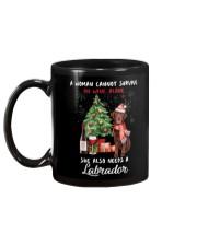 Christmas Wine and Chocolate Labrador Mug back