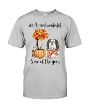 The Most Wonderful Time - Shih Tzu Classic T-Shirt front