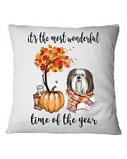 The Most Wonderful Time - Shih Tzu Square Pillowcase thumbnail