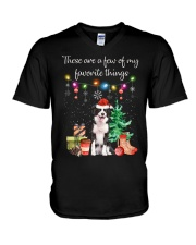 A Few of My Favorite Things - Border Collie V-Neck T-Shirt thumbnail