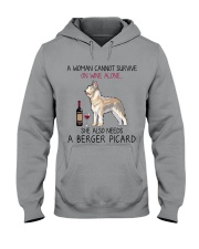 Wine and Berger Picard 2 Hooded Sweatshirt thumbnail
