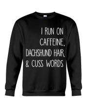 Caffeine and Dachshund Crewneck Sweatshirt thumbnail