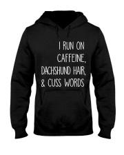 Caffeine and Dachshund Hooded Sweatshirt thumbnail
