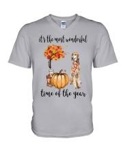 The Most Wonderful Time - Saluki V-Neck T-Shirt thumbnail