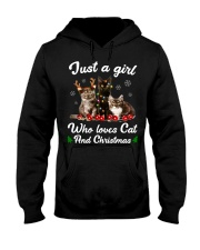 Just A Girl Who Loves Cats and Christmas Hooded Sweatshirt thumbnail