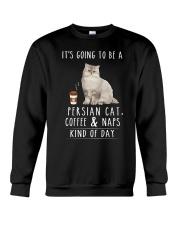 Persian Cat Coffee and Naps Crewneck Sweatshirt thumbnail