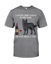 Wine and Mudi Classic T-Shirt front