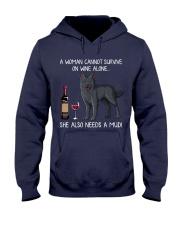 Wine and Mudi Hooded Sweatshirt thumbnail