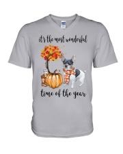 The Most Wonderful Time - Rat Terrier V-Neck T-Shirt thumbnail